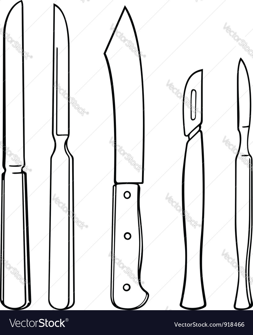 Surgical instruments vector | Price: 1 Credit (USD $1)