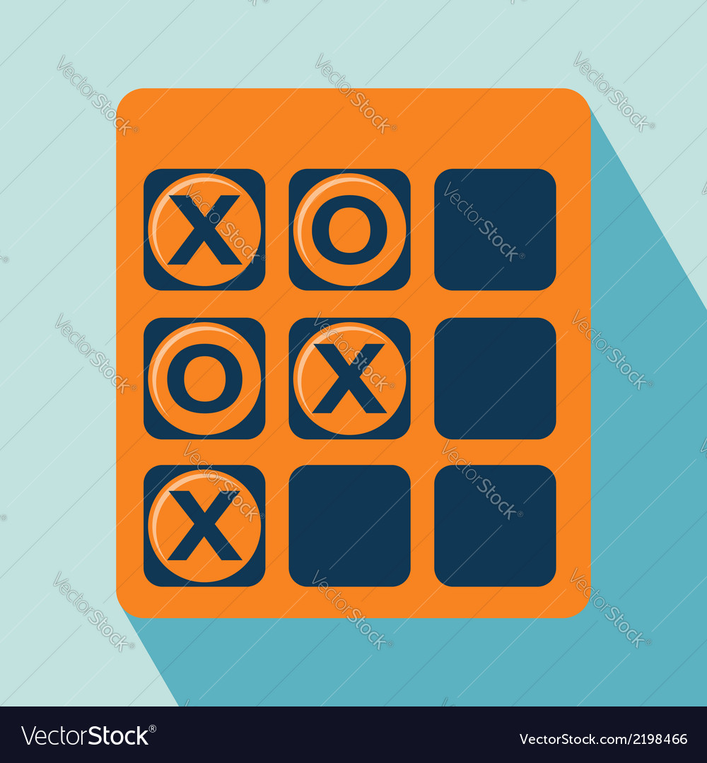 Tic tac toe icon vector | Price: 1 Credit (USD $1)