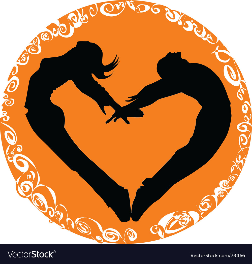 Two people one heart vector | Price: 1 Credit (USD $1)
