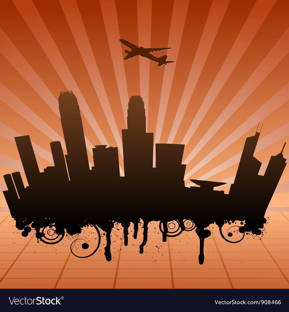 Urban landscape of hongkong vector | Price: 1 Credit (USD $1)