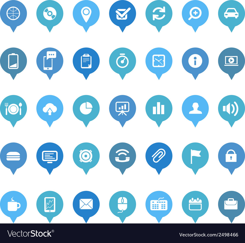 Web icons in speech clouds collection vector | Price: 1 Credit (USD $1)