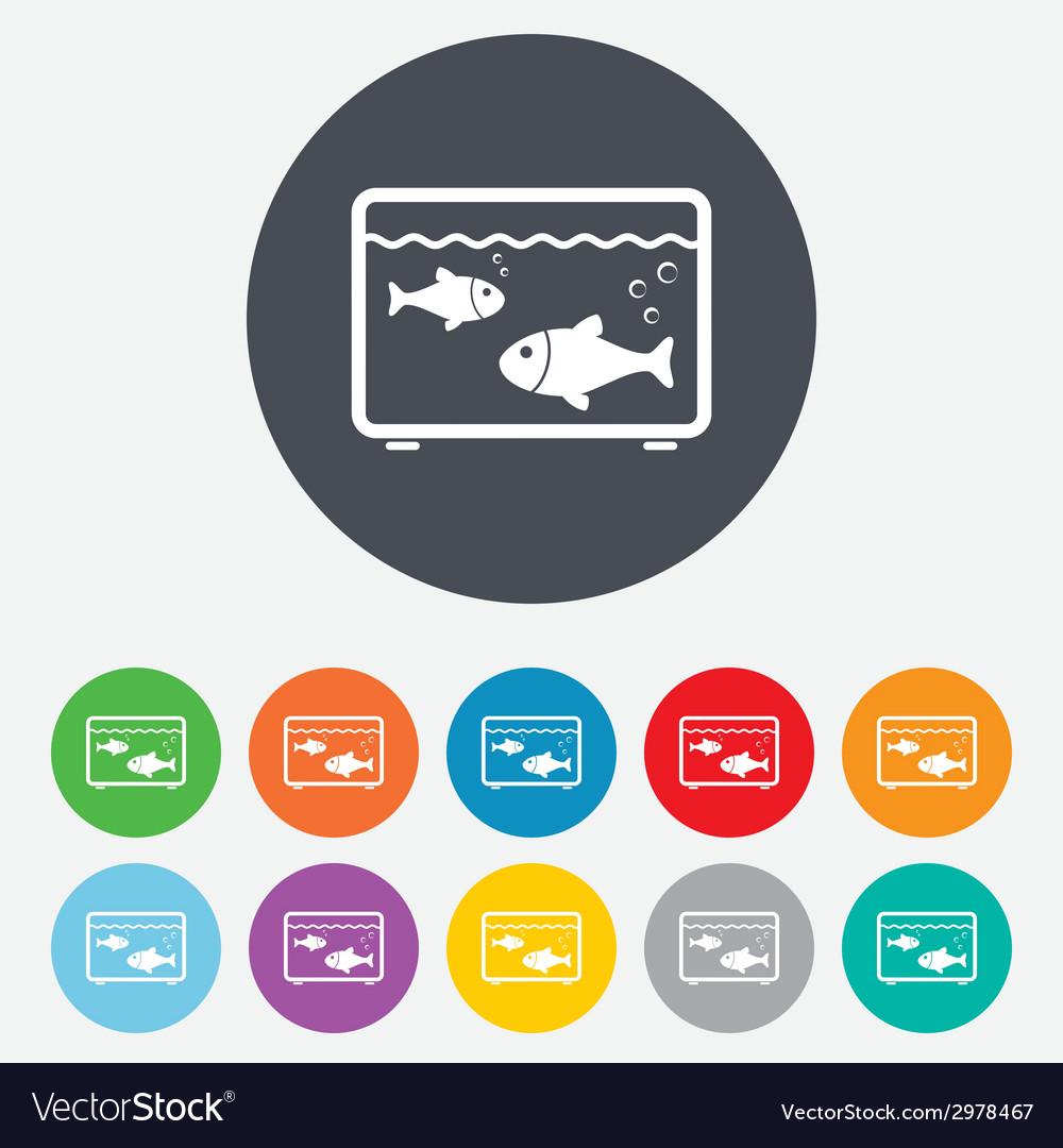 Aquarium sign icon fish in water symbol vector   Price: 1 Credit (USD $1)