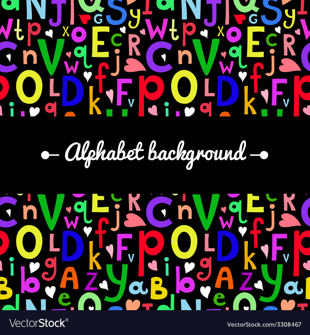 Background with latin letters of different sizes vector | Price: 1 Credit (USD $1)