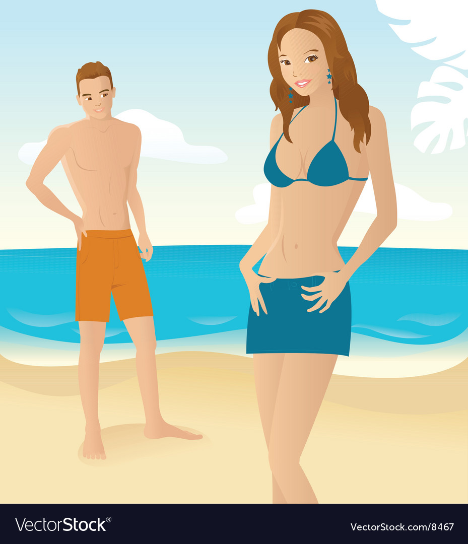 Beach romance vector | Price: 5 Credit (USD $5)