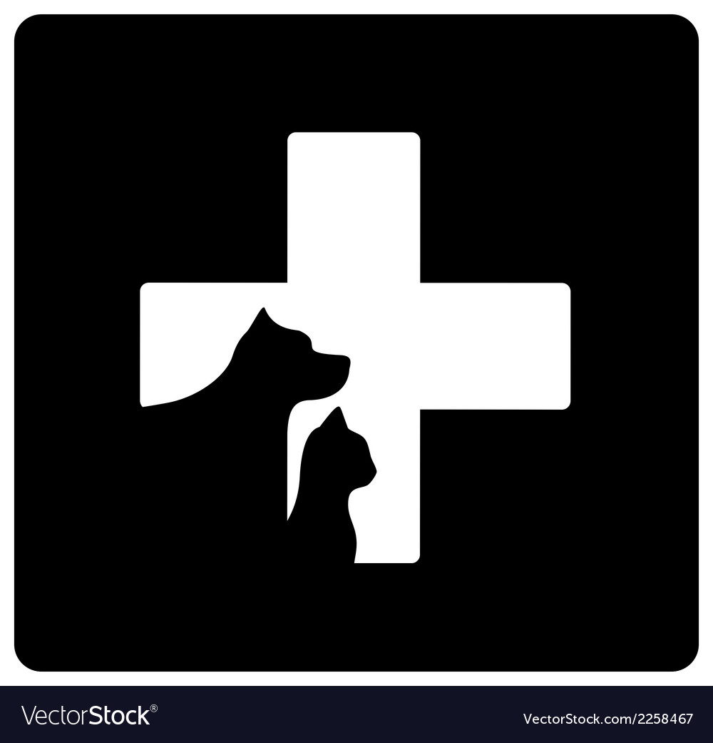 Black veterinary care icon vector | Price: 1 Credit (USD $1)