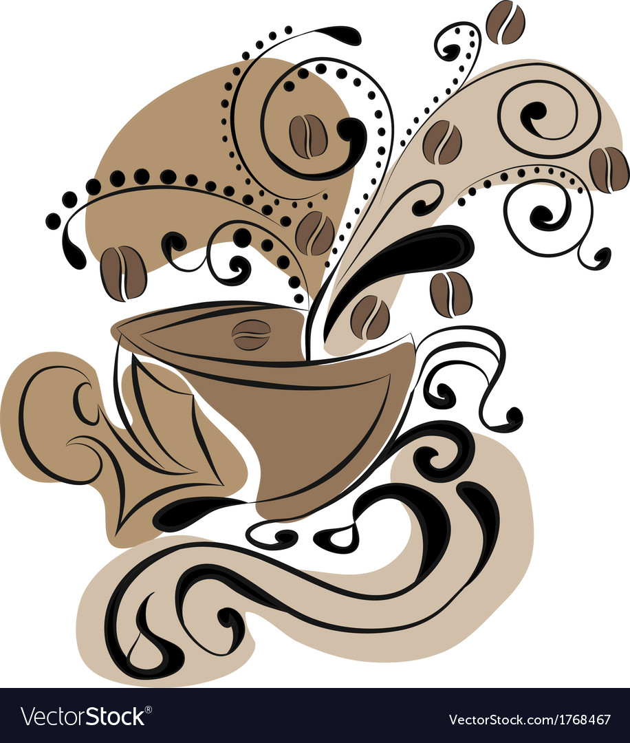 Cup of coffee - abstraction vector | Price: 1 Credit (USD $1)