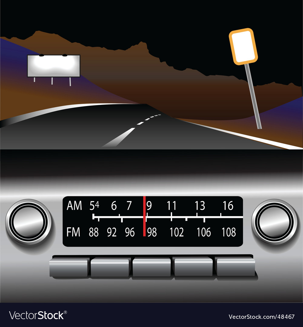 Dashboard radio vector | Price: 1 Credit (USD $1)