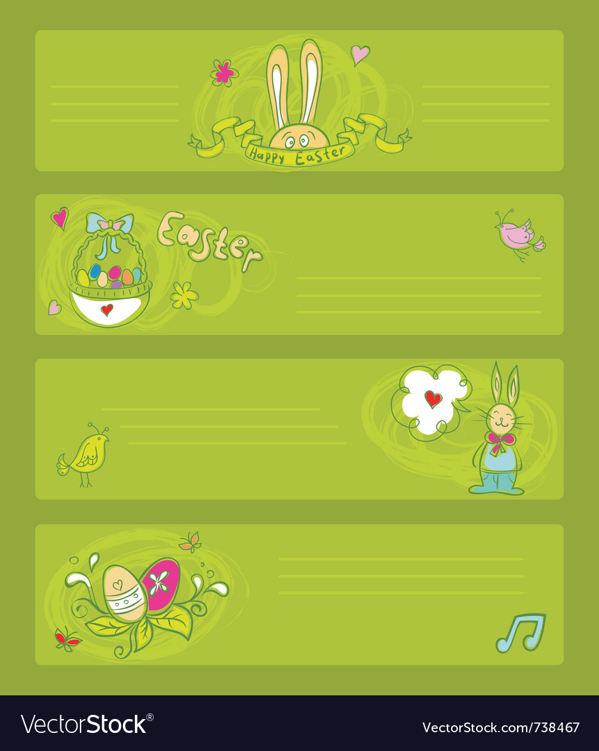 Easter doodle templates vector | Price: 3 Credit (USD $3)