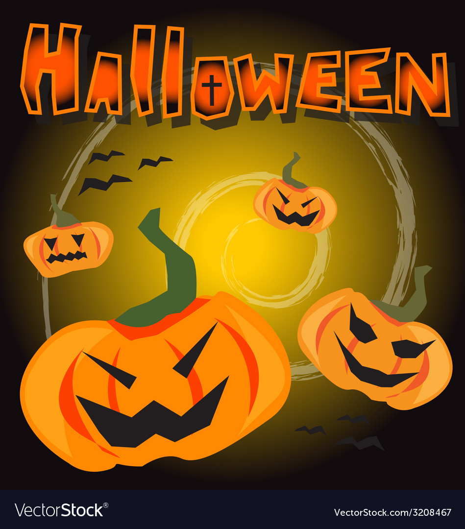 Halloween party background vector   Price: 1 Credit (USD $1)