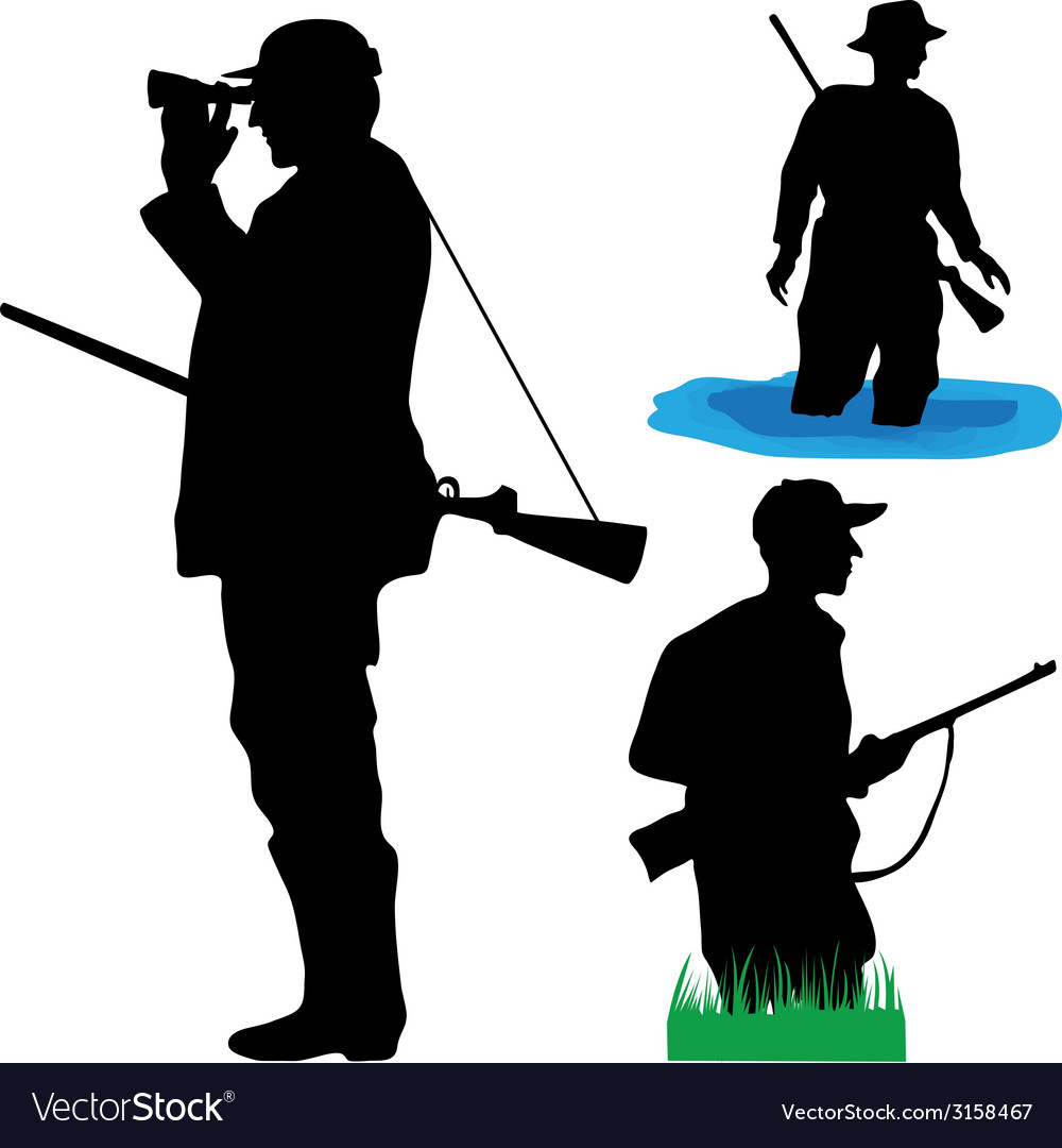 Hunters of wild animals vector | Price: 1 Credit (USD $1)