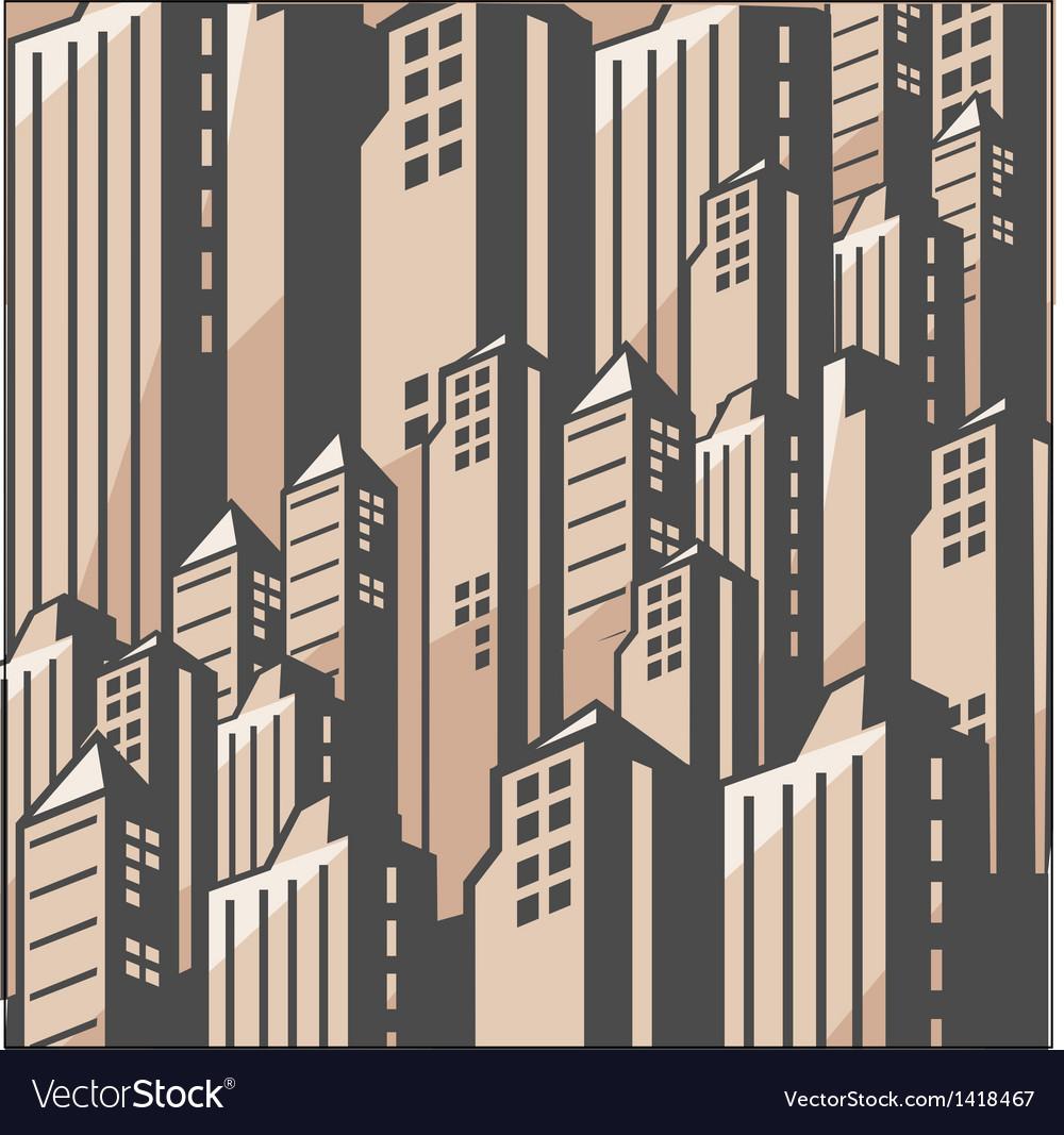 Metropolis cityscape vector | Price: 1 Credit (USD $1)