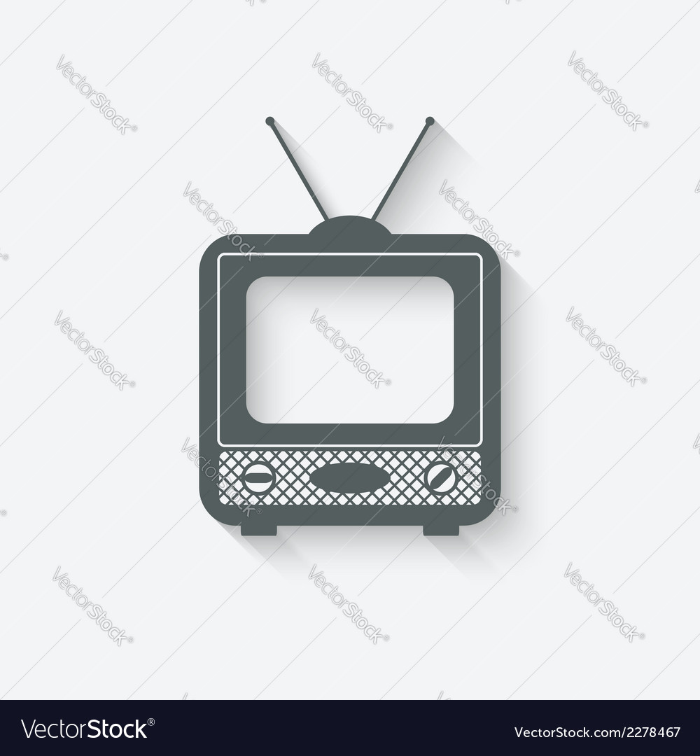 Old television icon vector | Price: 1 Credit (USD $1)