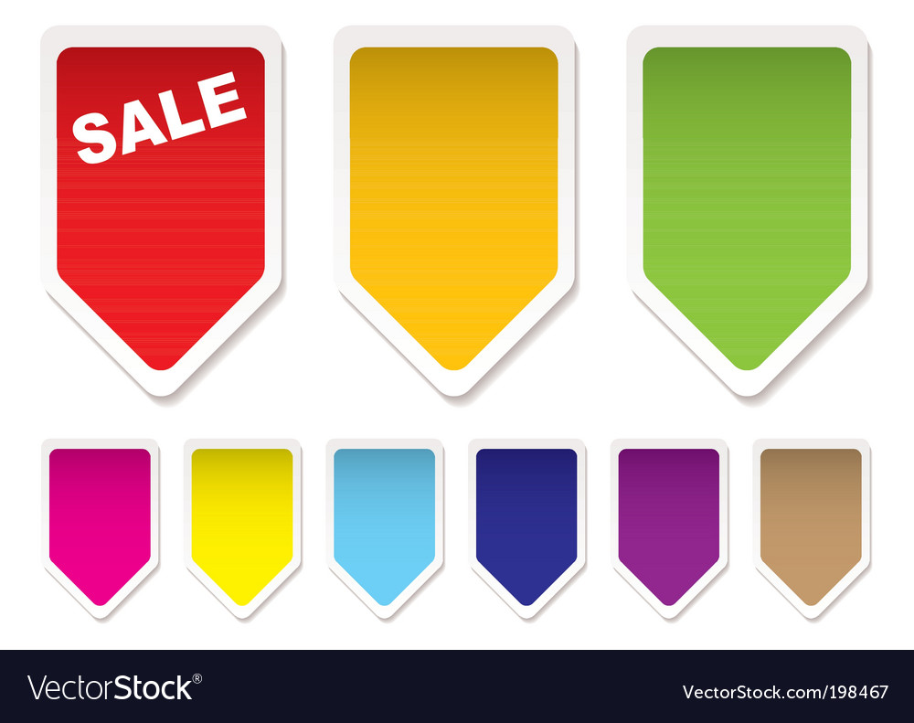 Price tag icons vector | Price: 1 Credit (USD $1)