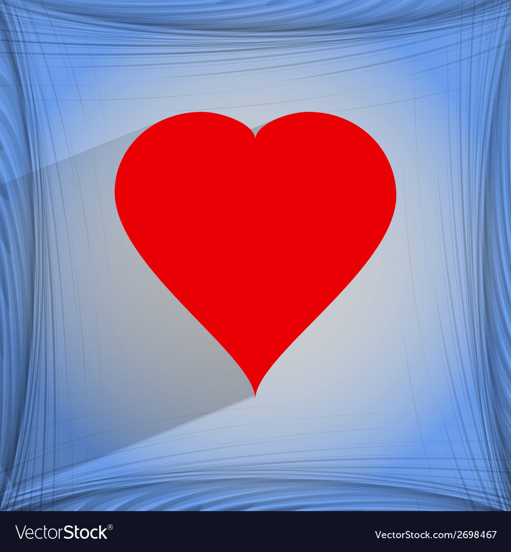 Red heart web icon on a flat geometric abstract vector | Price: 1 Credit (USD $1)