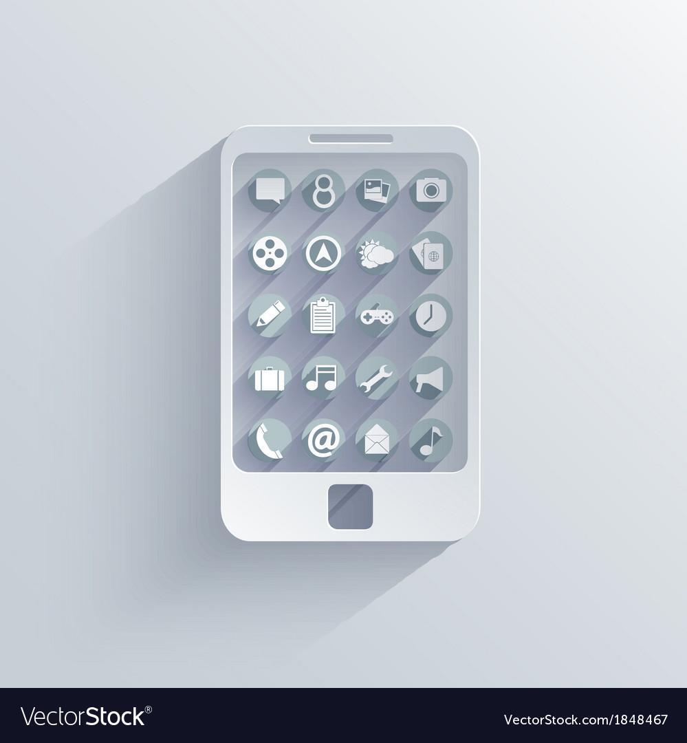 Smartphone icon background eps10 vector | Price: 1 Credit (USD $1)