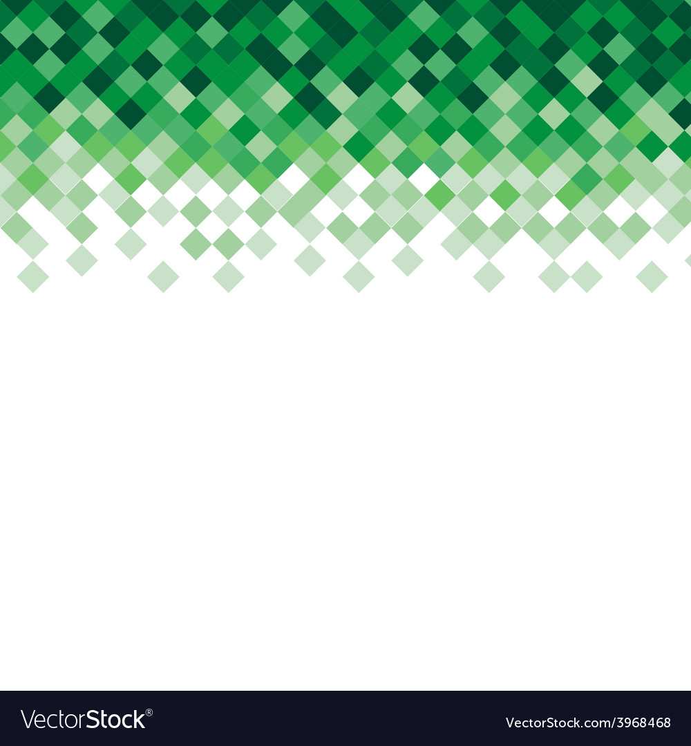 Abstract triangle mosaic green background design vector | Price: 1 Credit (USD $1)