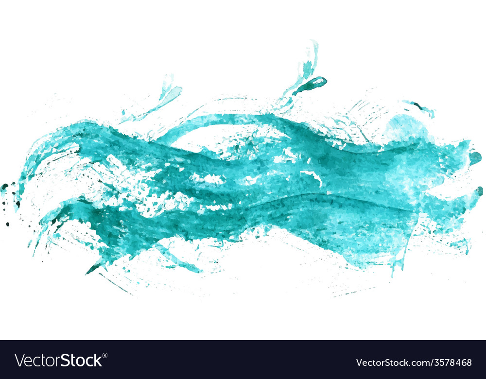 Abstract watercolor sea vector | Price: 1 Credit (USD $1)