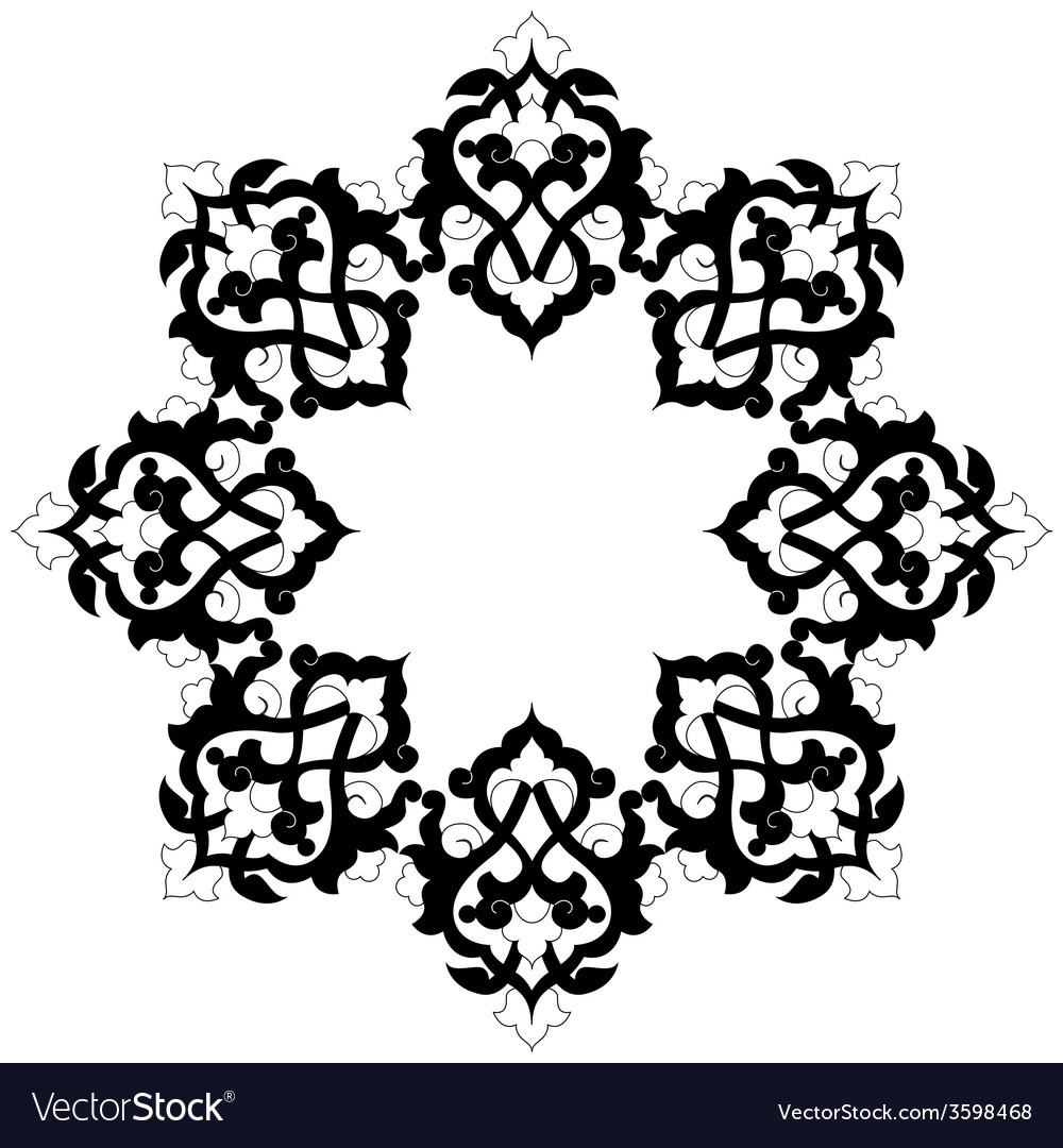 Artistic ottoman pattern series sixteen vector | Price: 1 Credit (USD $1)