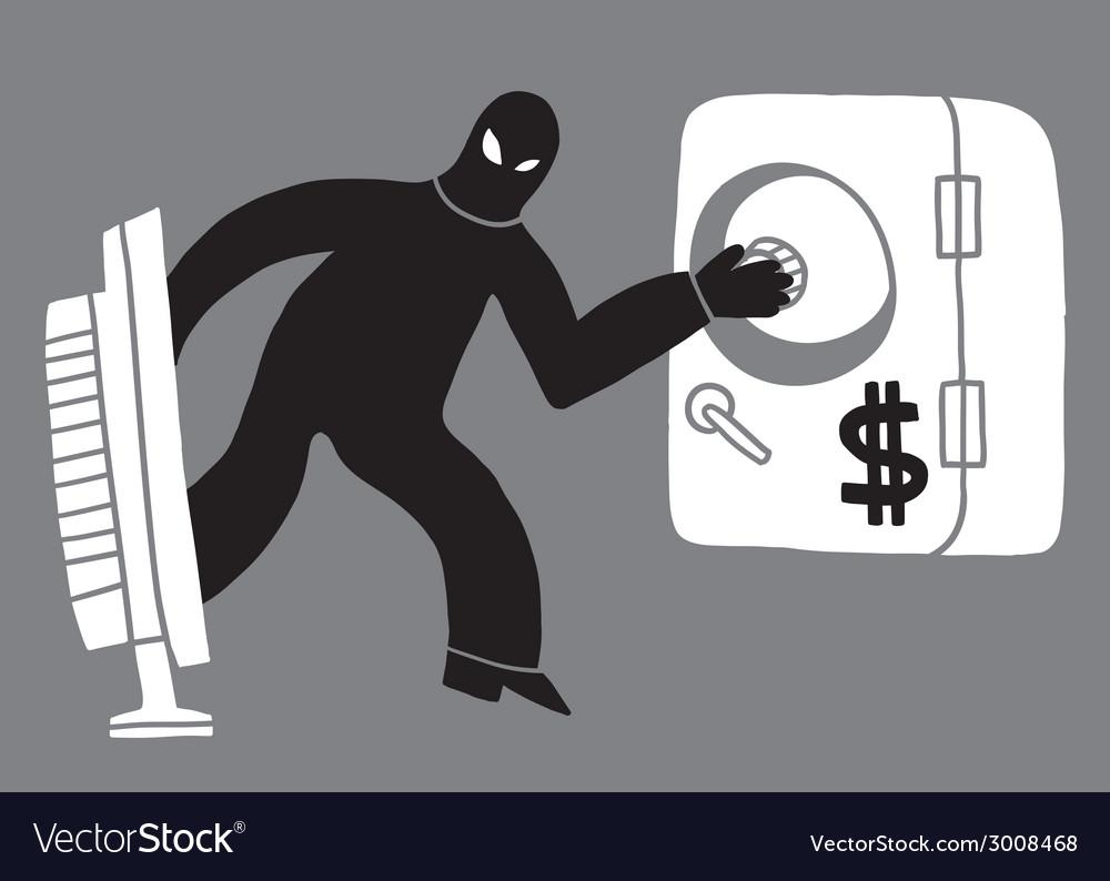 Computer theft hacker vector | Price: 1 Credit (USD $1)