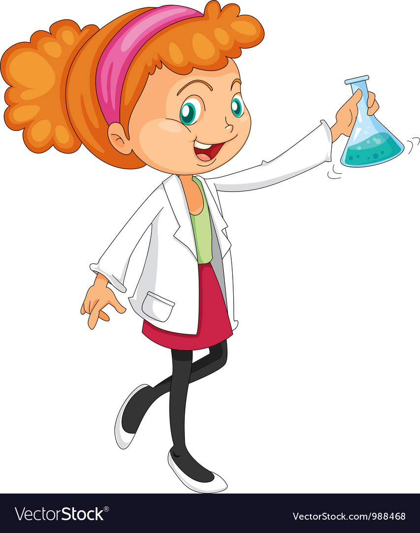 Female chemist vector | Price: 3 Credit (USD $3)
