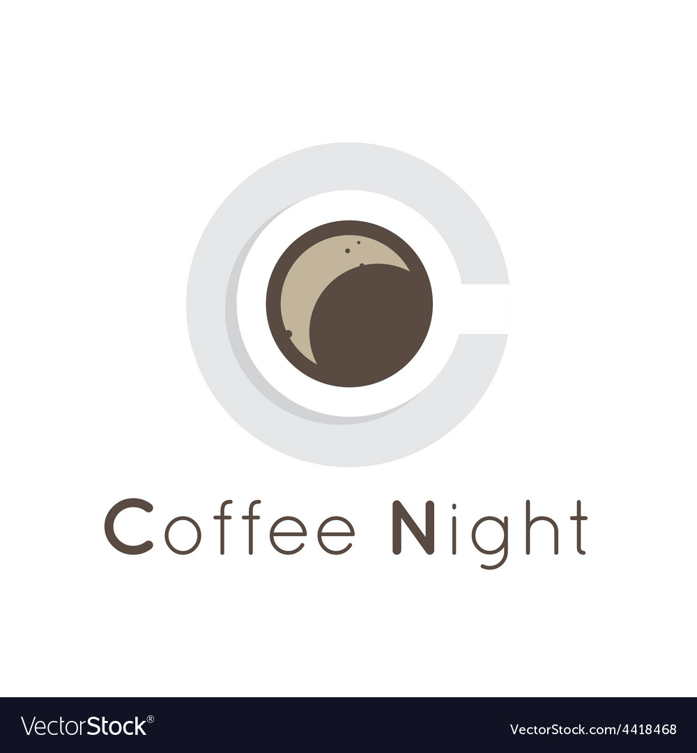 Flat coffee shop cafe or restaurant logo vector | Price: 1 Credit (USD $1)