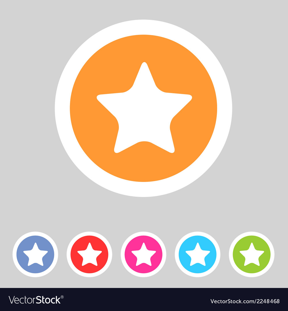 Flat game graphics icon star vector | Price: 1 Credit (USD $1)
