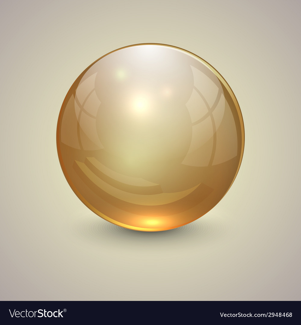 Golden transparent globe on light background vector | Price: 1 Credit (USD $1)
