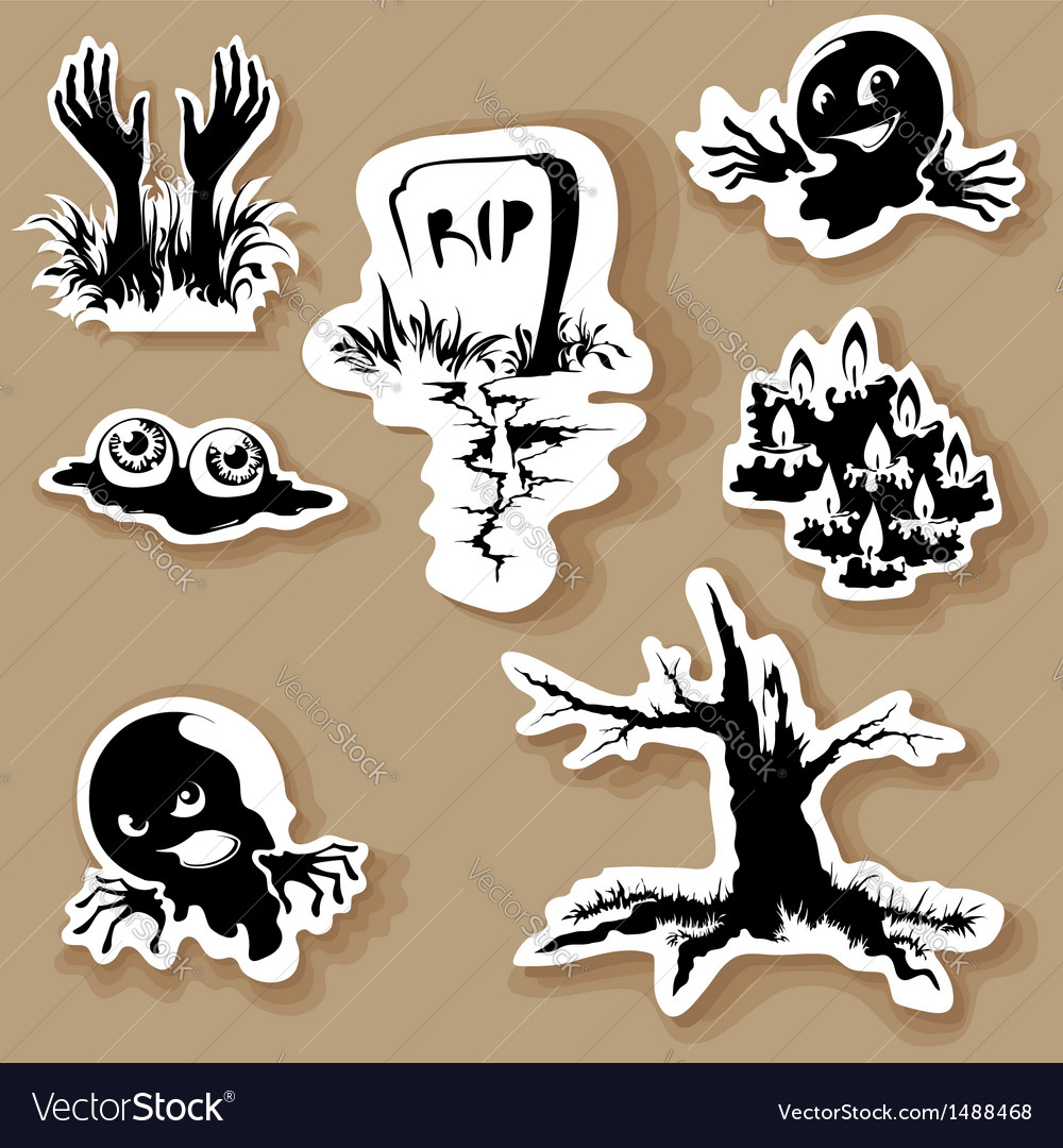 Halloween shapes vector | Price: 1 Credit (USD $1)