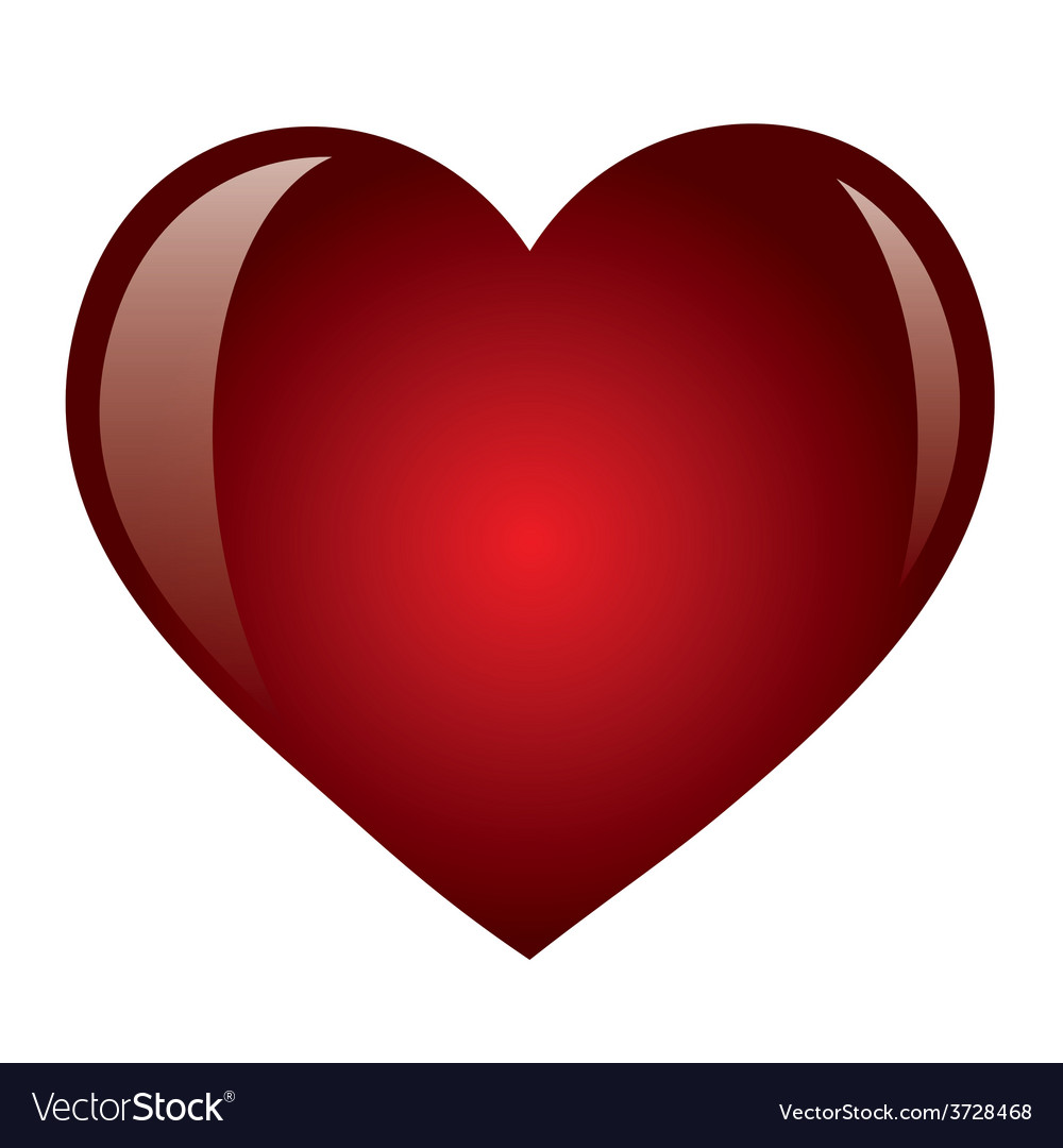 Heart isolated object vector | Price: 1 Credit (USD $1)