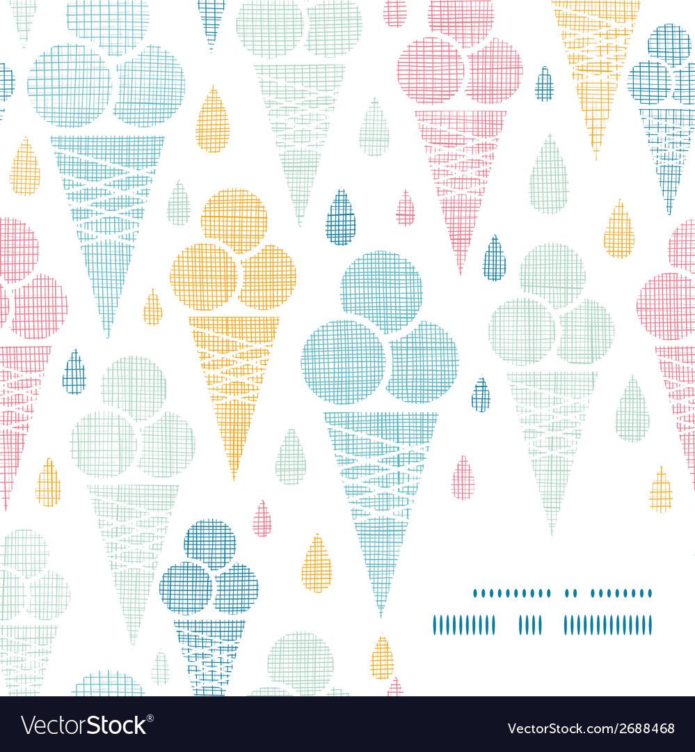 Ice cream cones textile colorful frame corner vector | Price: 1 Credit (USD $1)