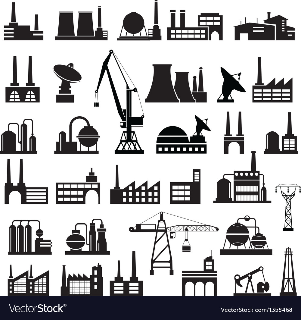 Industrial buildings 2 vector | Price: 3 Credit (USD $3)