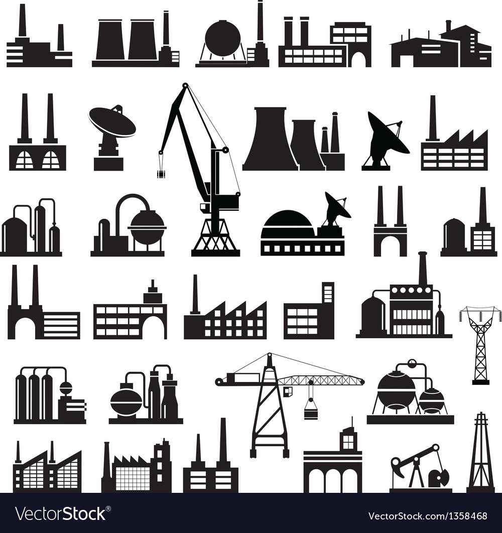 Industrial buildings 2 vector | Price: 3 Credit (USD $3)