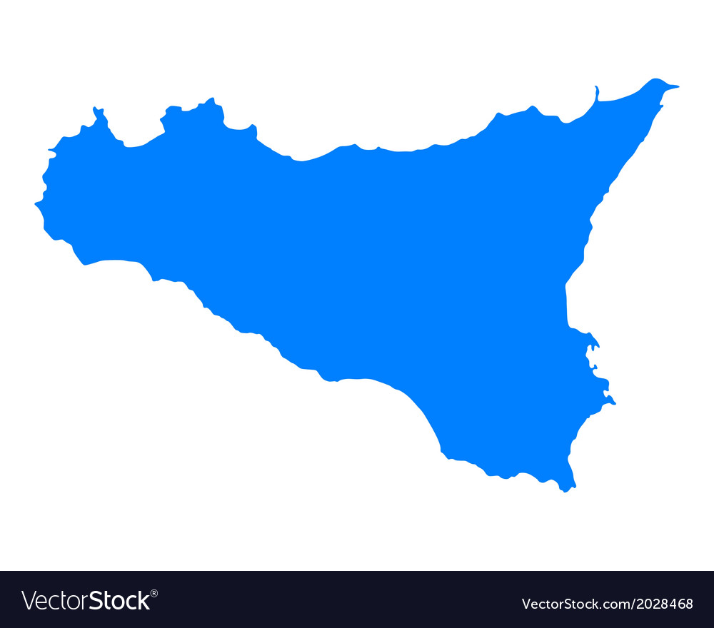 Map of sicily vector   Price: 1 Credit (USD $1)