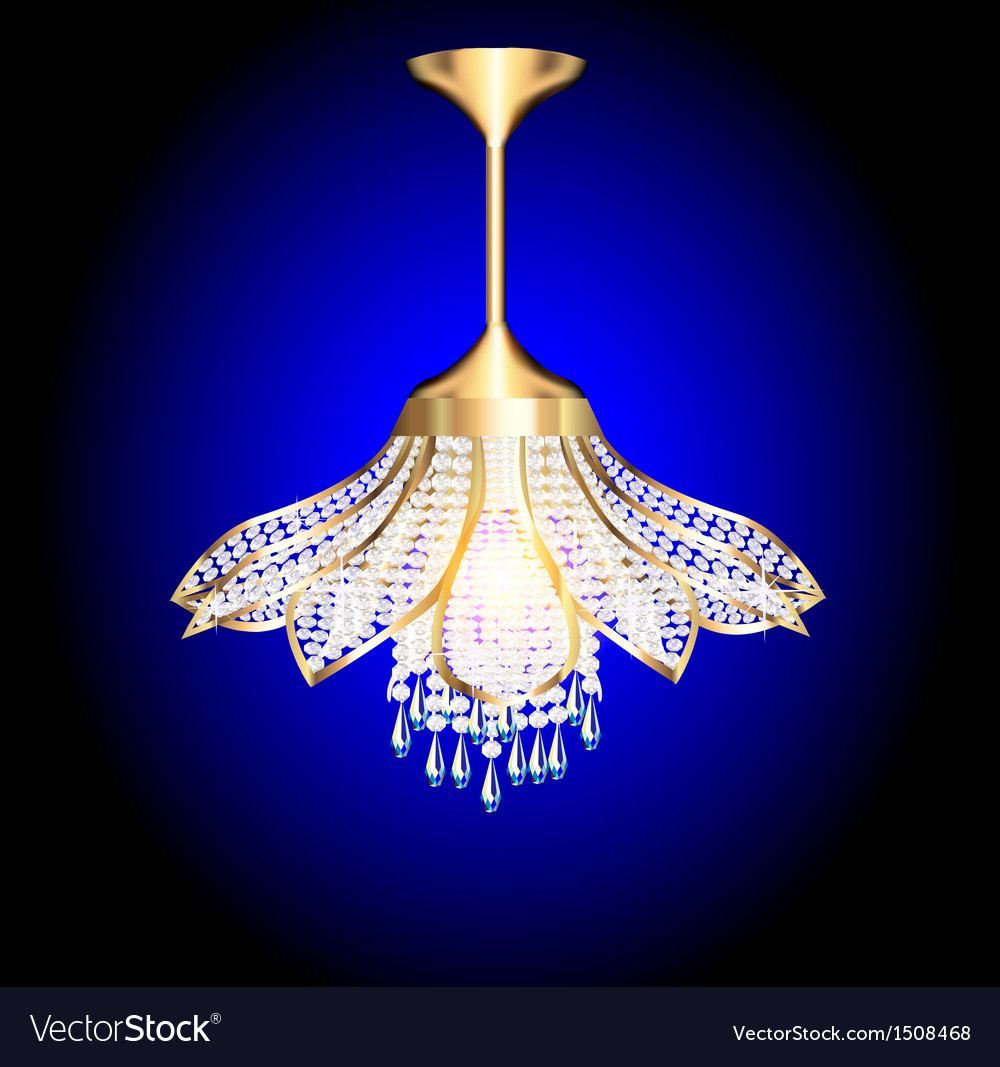 Modern chandelier in the shape of a flower vector | Price: 1 Credit (USD $1)