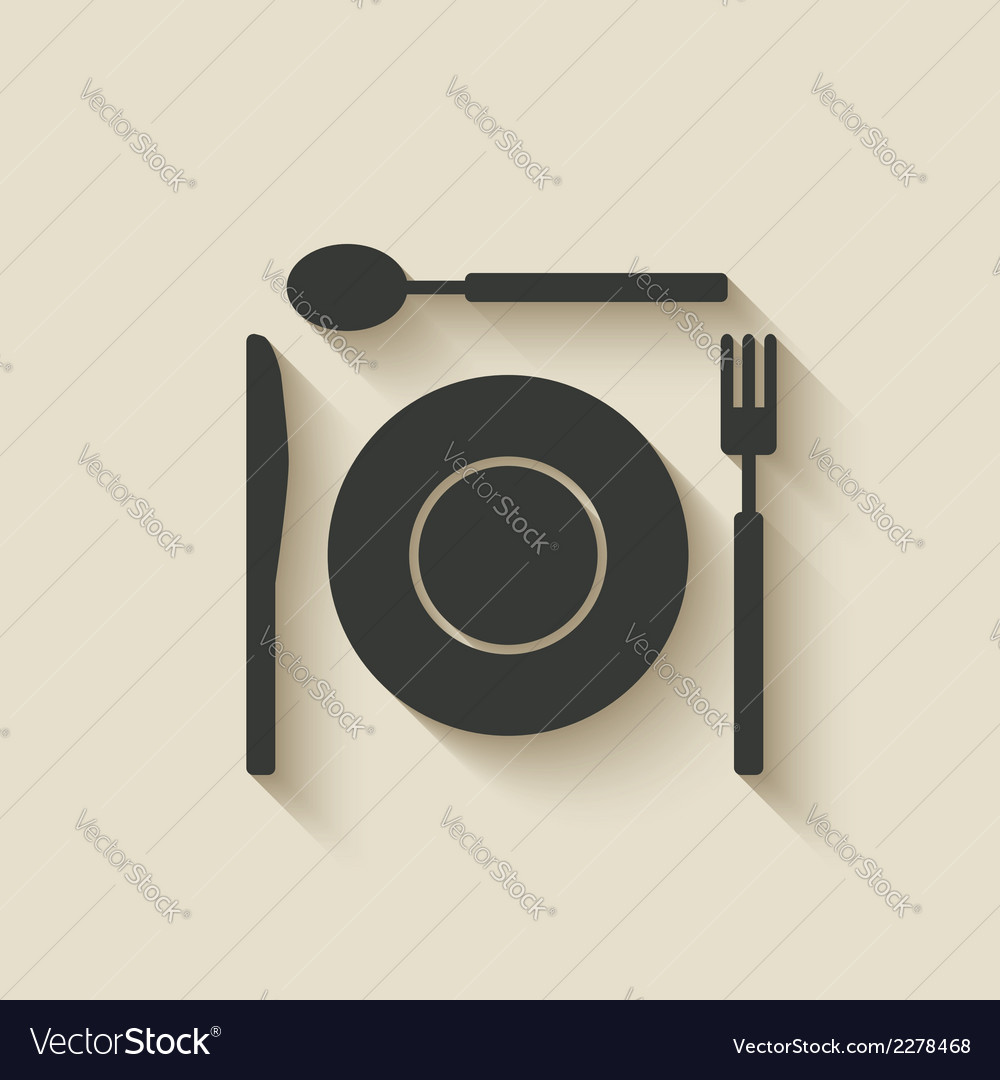 Plate fork knife spoon icon vector | Price: 1 Credit (USD $1)