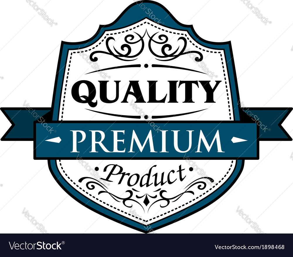 Quality premium product badge vector | Price: 1 Credit (USD $1)