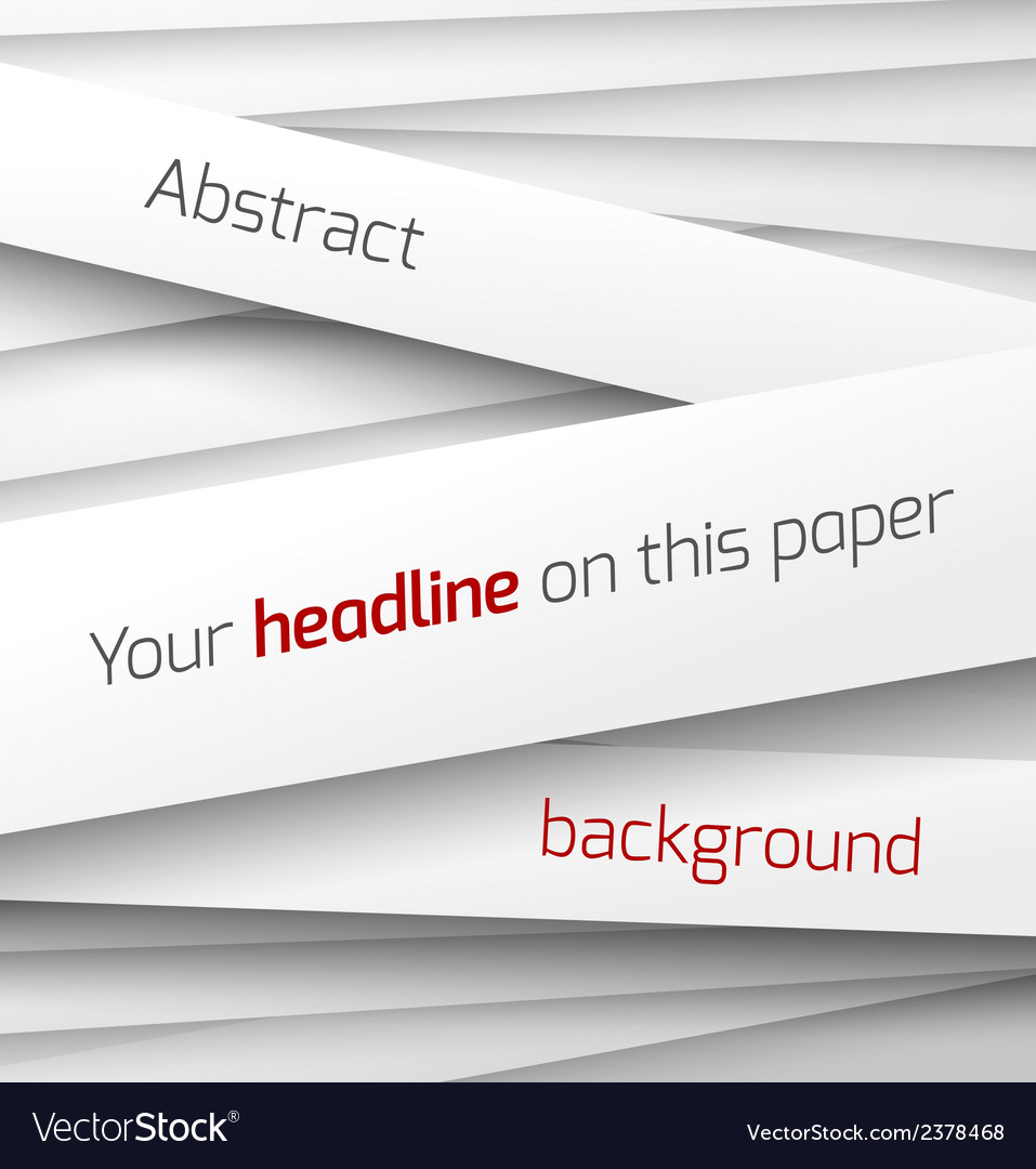 White paper rectangle banner on abstract 3d vector | Price: 1 Credit (USD $1)