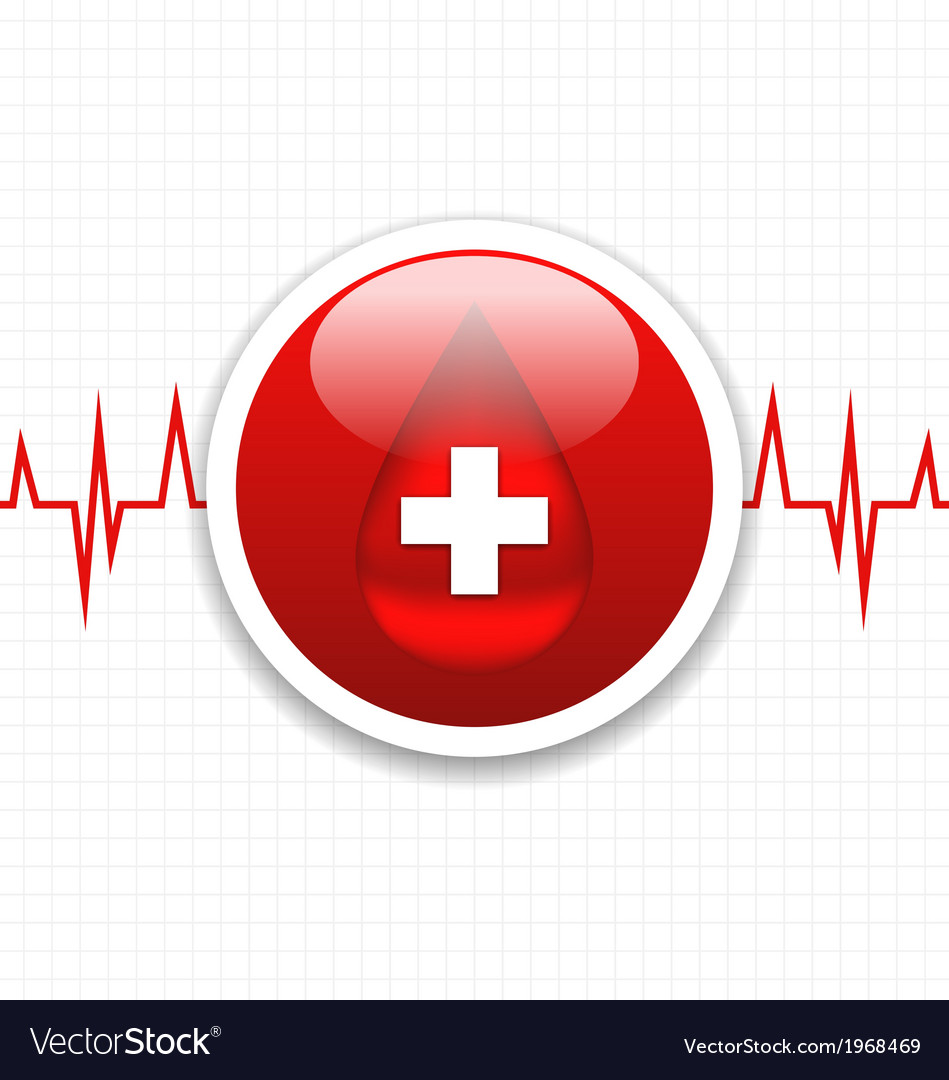 Abstract medical background save life heart vector | Price: 1 Credit (USD $1)