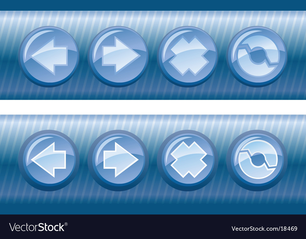 Browser buttons vector | Price: 1 Credit (USD $1)