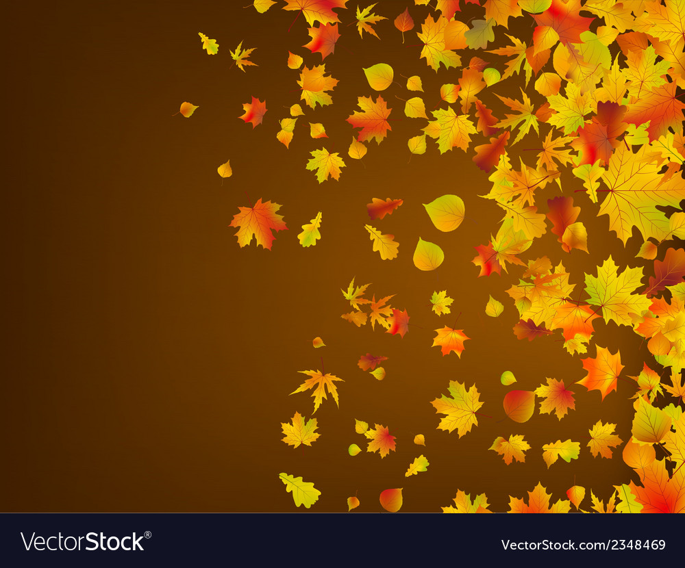 Fallen autumn leaves background eps 8 vector | Price: 1 Credit (USD $1)