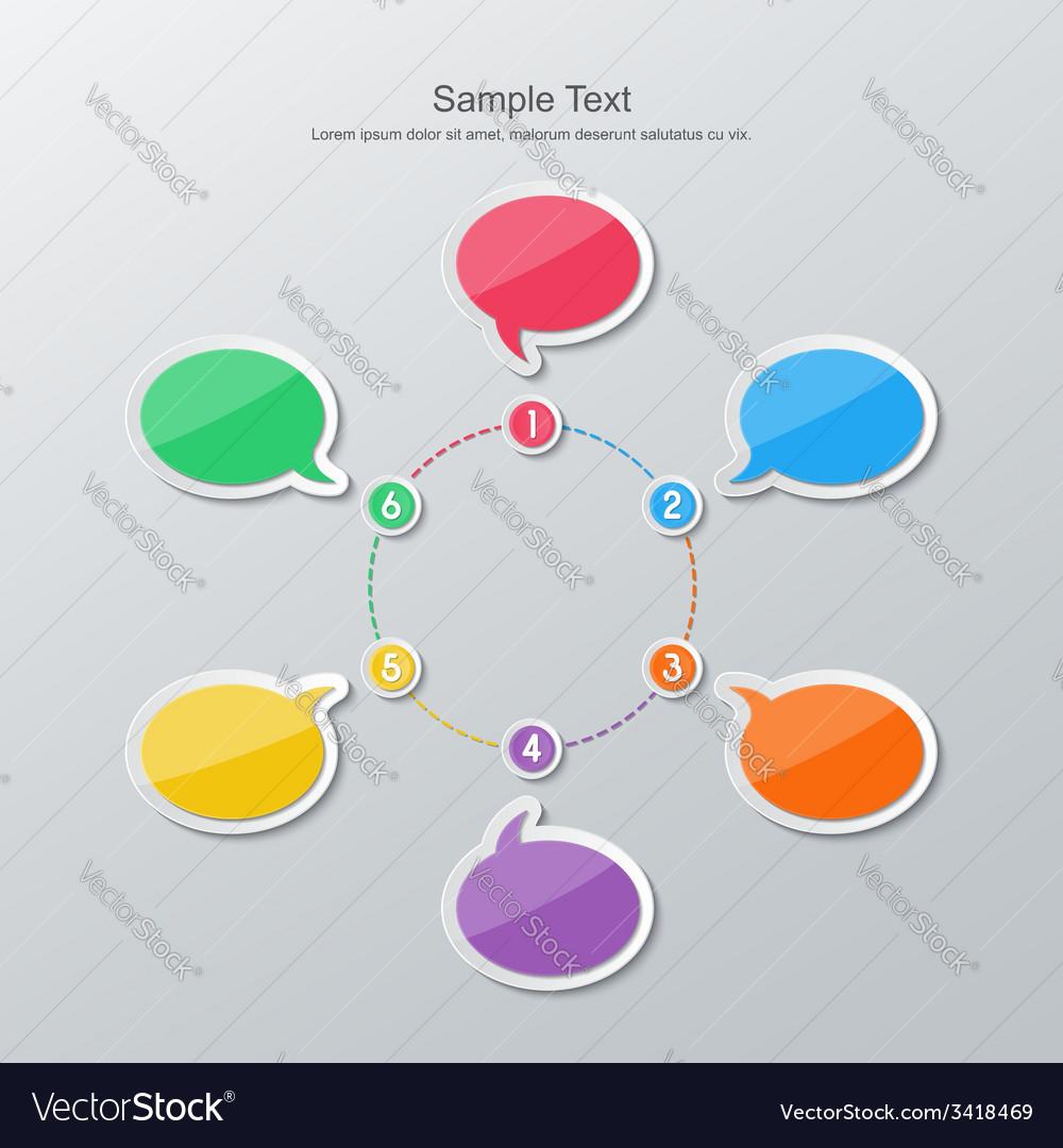 Flat design timeline infographics vector | Price: 1 Credit (USD $1)