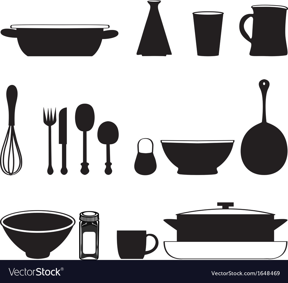Food and drink kitchen utensils isolated vector | Price: 1 Credit (USD $1)