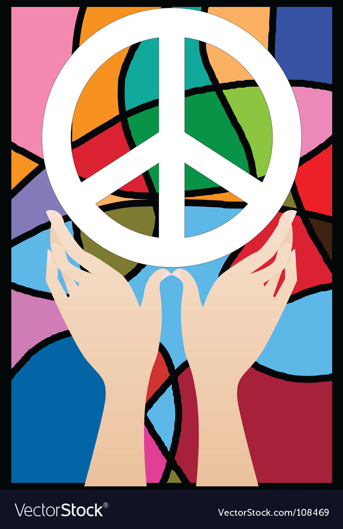 Hand peace vector | Price: 1 Credit (USD $1)