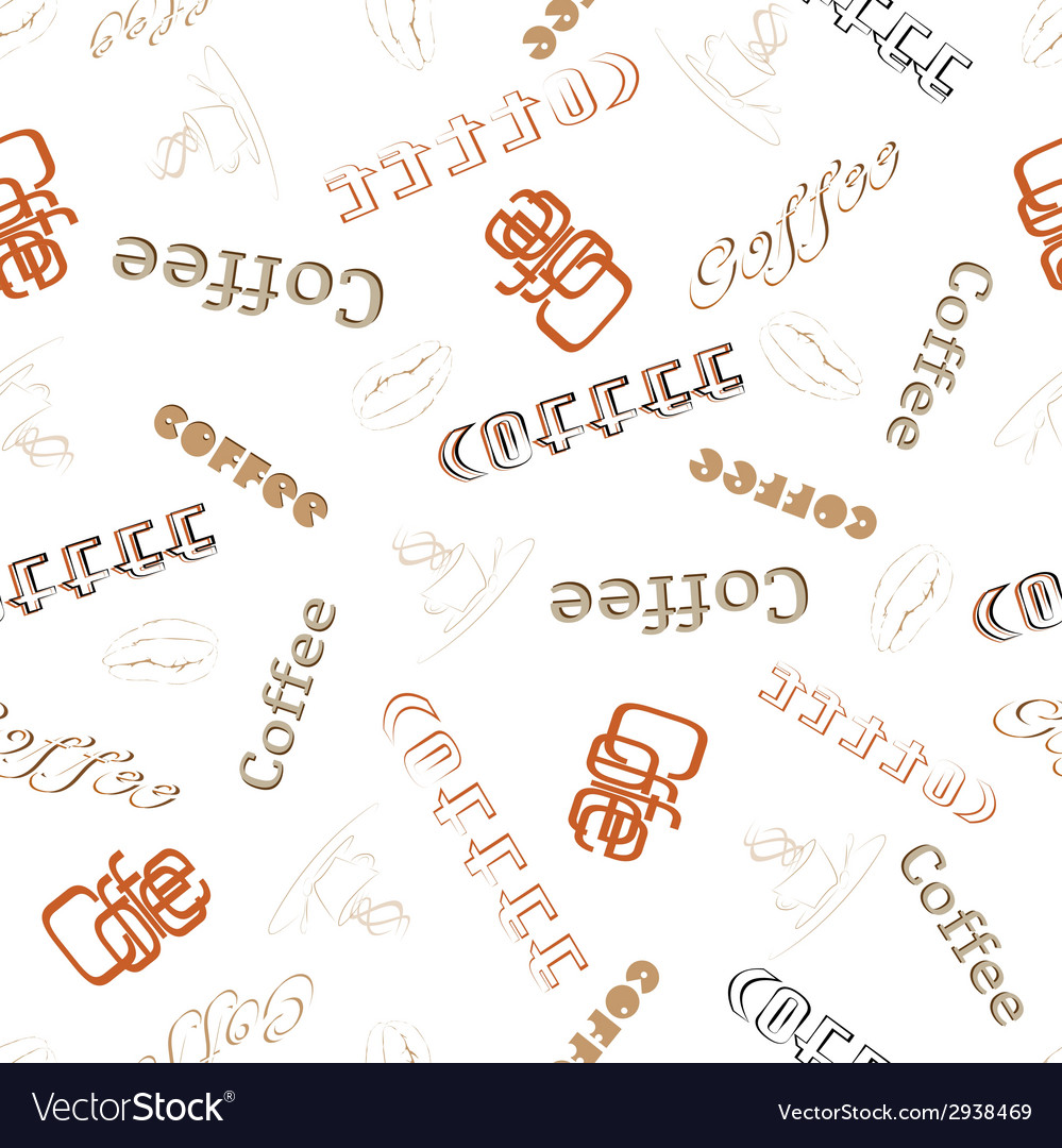 Seamless texture word coffee vector | Price: 1 Credit (USD $1)