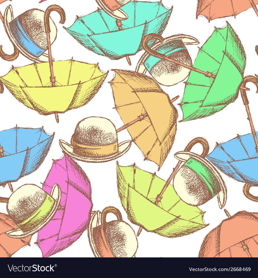 Umbrella hat tie vector | Price: 1 Credit (USD $1)