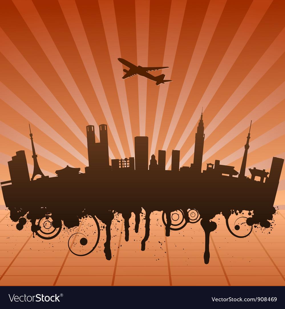 Urban landscape of jakarta vector | Price: 1 Credit (USD $1)