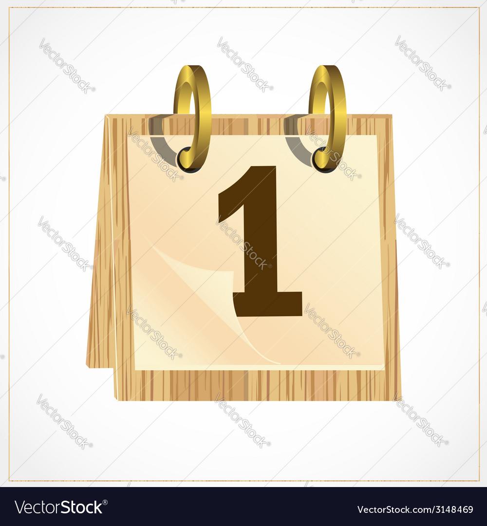 Wooden calendar vector
