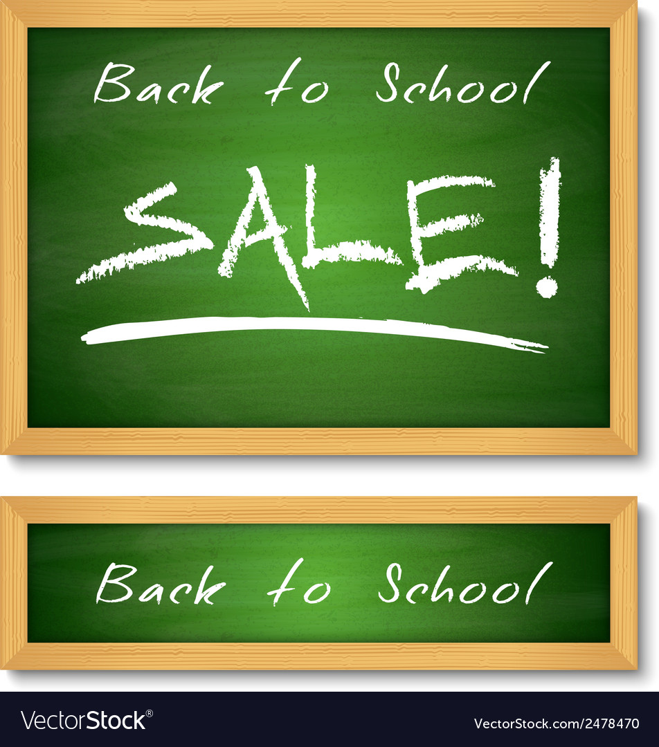 Back to school wooden green chalkboard vector | Price: 1 Credit (USD $1)