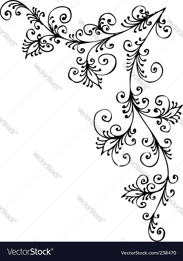 Baroque vignette vector | Price: 1 Credit (USD $1)