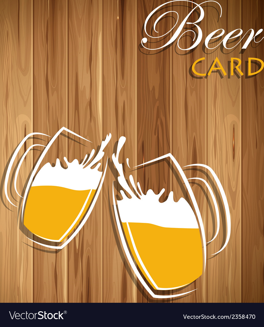 Beer card vector | Price: 1 Credit (USD $1)